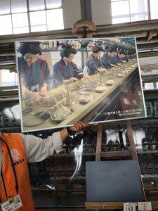 こんな感じで工女さん達が作業していたようです。